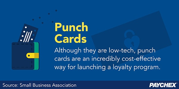 Punch cards are an inexpensive way to launch a loyalty program