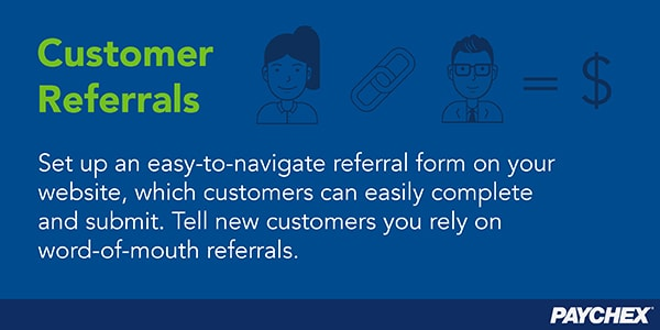 Customer referral forms - paychex