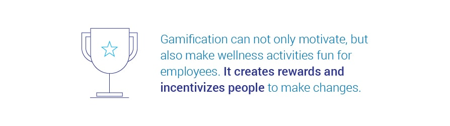 Gamification can not only motivate, but also make wellness activities fun   for employees. It creates rewards and incentivizes people to make changes.
