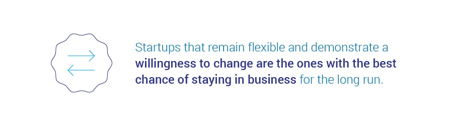 Startups that remain flexible stand the best chance of staying in business.