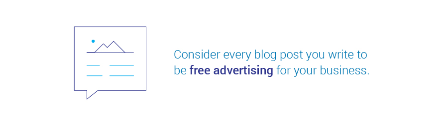 Every blog post is free advertising for business
