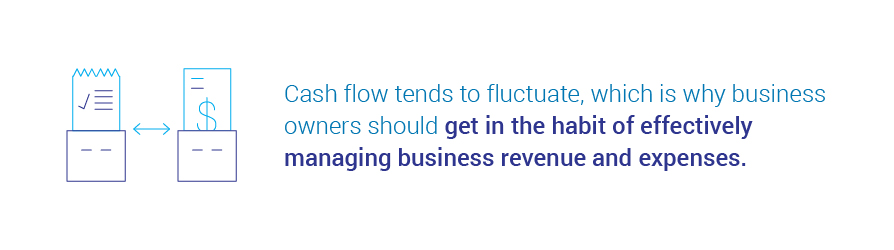get in the habit of managing business revenue and expenses