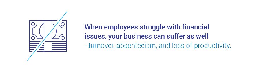 employees' financial struggles