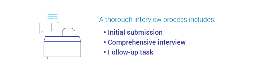 Thorough interview process includes