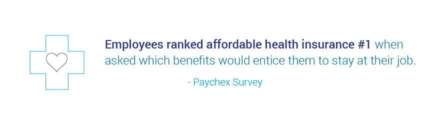 employees ranked affordable health insurance #1 - Paychex survey