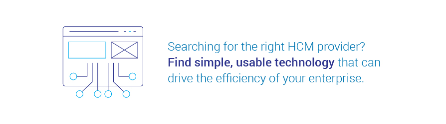 Searching for the right HCM provider