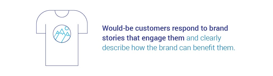 Would-be customers respond to brand stories that engage them and clearly describe how   the brand can benefit them.