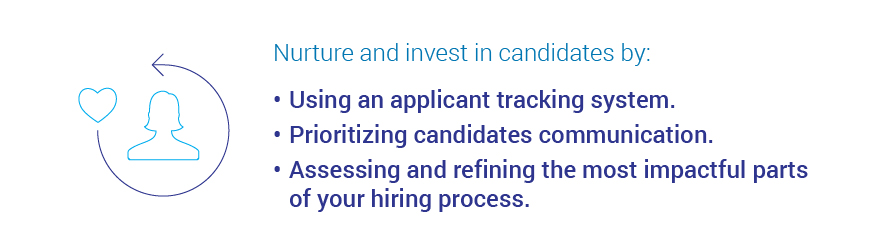 Nurturing and investing in candidates