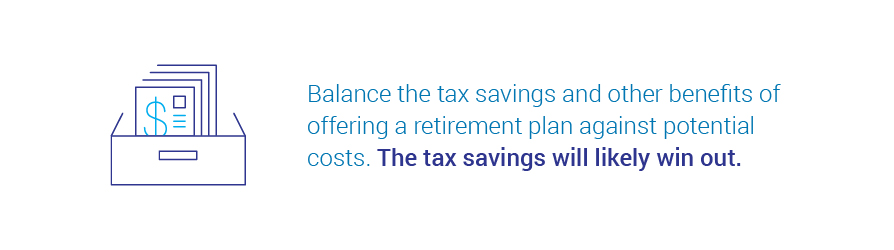 retirement plan tax savings