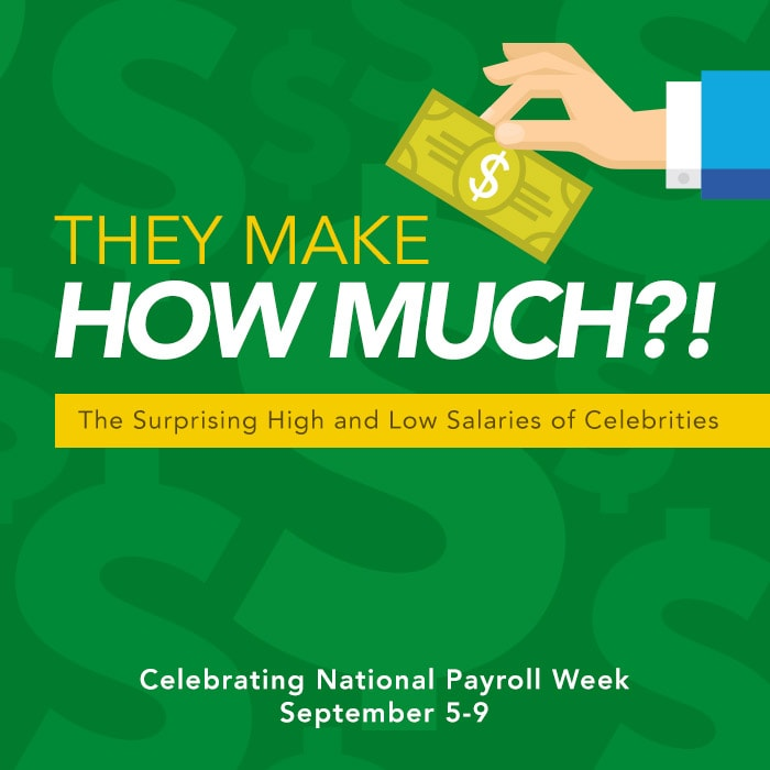 A short list of celebrity salaries to celebrate National Payroll Week