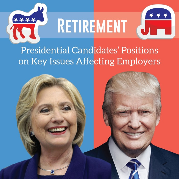 Retirement security and the viewpoints of each of the 2016 presidential candidates.