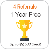 4 Referall 1 year free