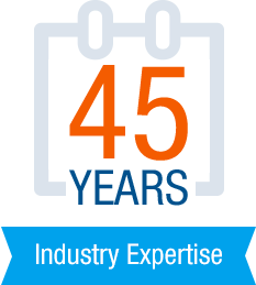 45 years of industry experience