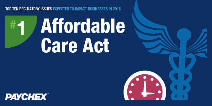 Regulatory issues - Affordable care act - paychex
