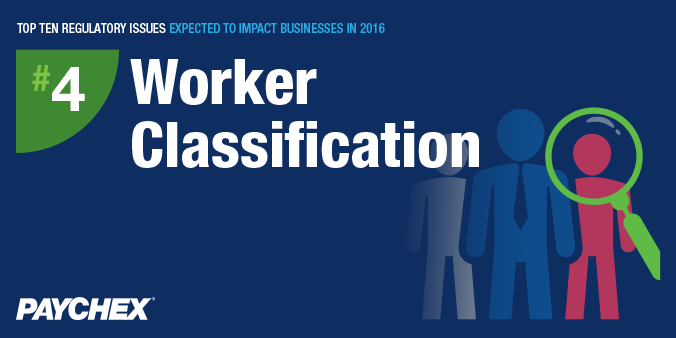 Regulatory issues - Worker classification - paychex
