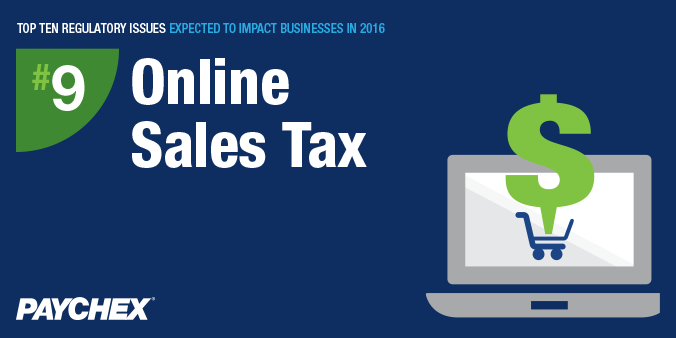 Regulatory issues - Sales tax - Paychex