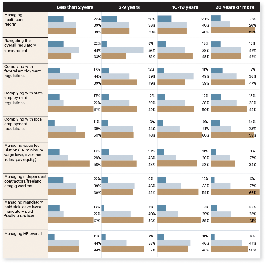 Infographic on company age for business sentiment report