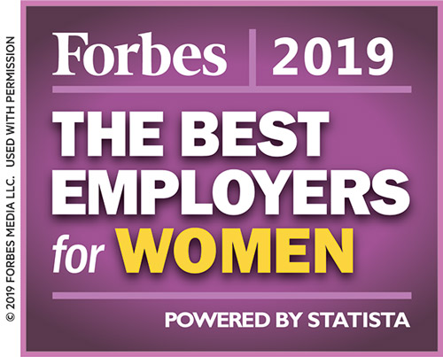 Forbes - the best employers for women 2019