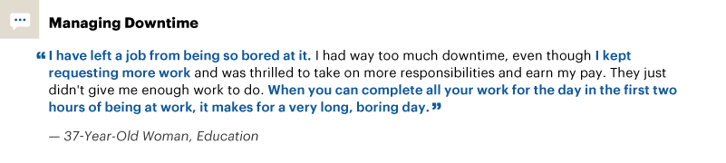 Quote about managing downtime