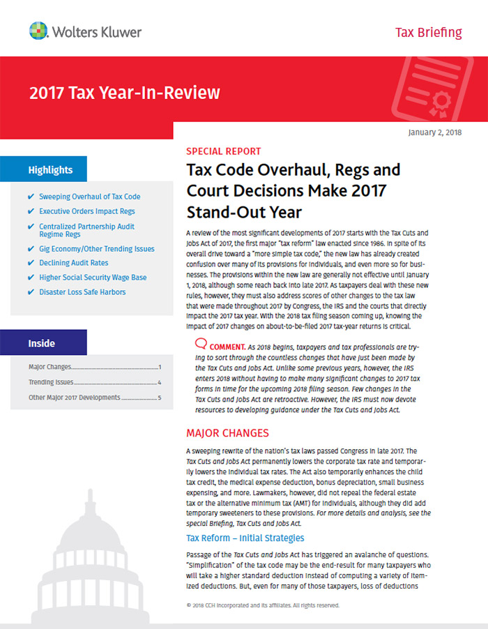 Regulatory updates for accountants paychex 2017 tax year in review by cchwolters kluwer fandeluxe Images