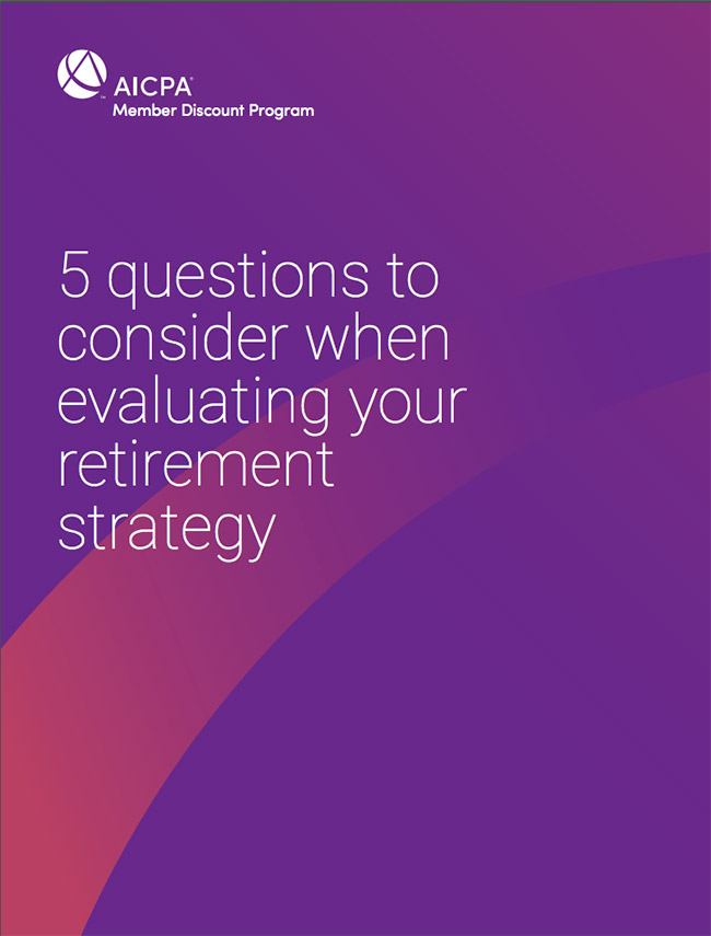 AICPA Retirement Strategy