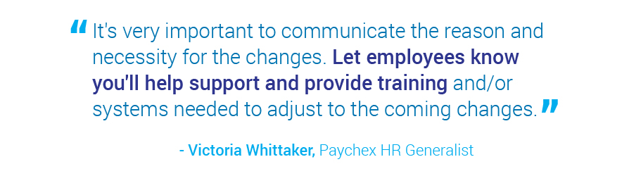 assist employees with change