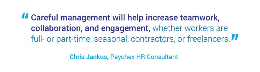 blended workforce management