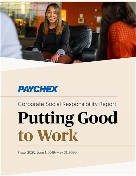 Corporate Social Responsibility Report cover 2020