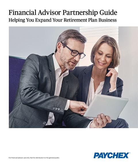 Folleto de asociación con asesores financieros