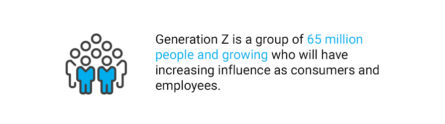 Quote about Generation Z's influence as consumers