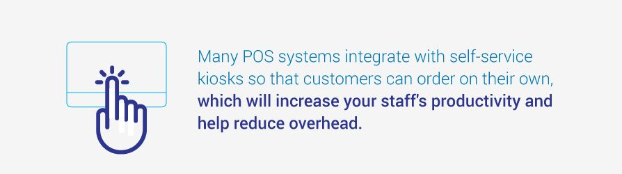 POS systems integrate with self-service kiosks