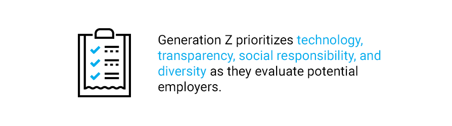 Quote about Generation Z's employer preferences