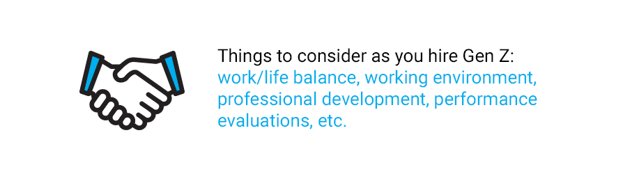 Quote about things to consider when hiring Generation Z