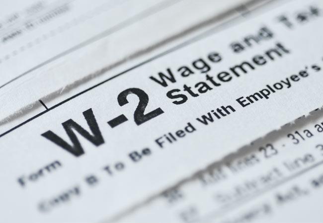 Imagen del formulario W-2