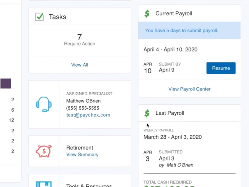 Paychex Flex Interface