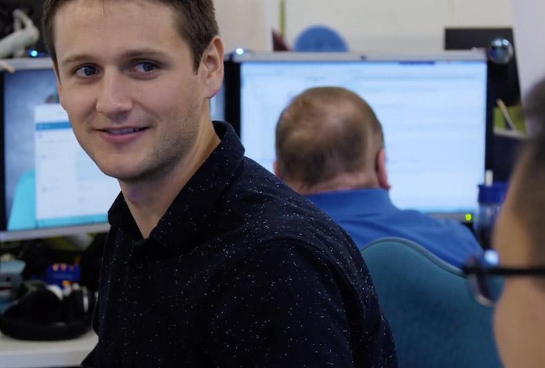 Josh, empleado de Paychex