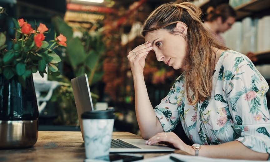 business owner stressed out because she cant make payroll