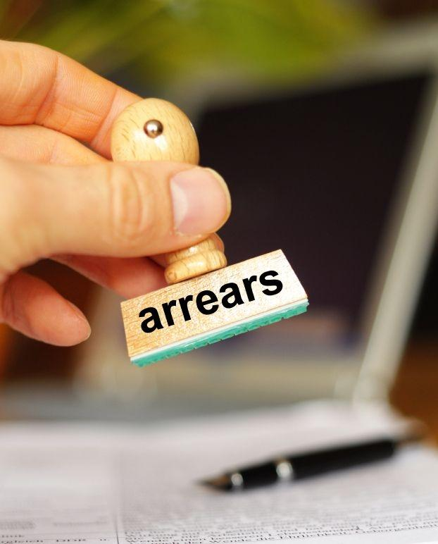 being paid in arrears