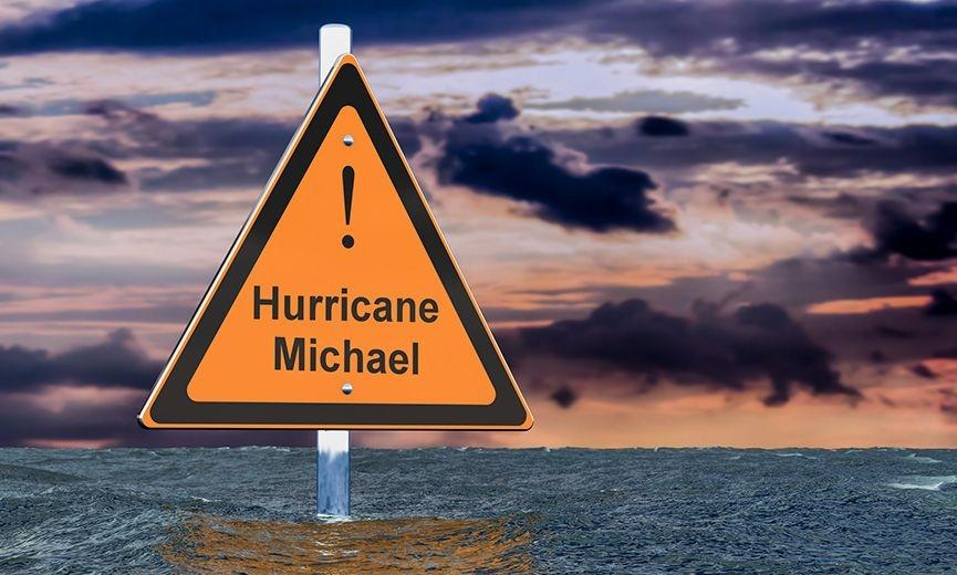 Hurricane Michael Warning Sign