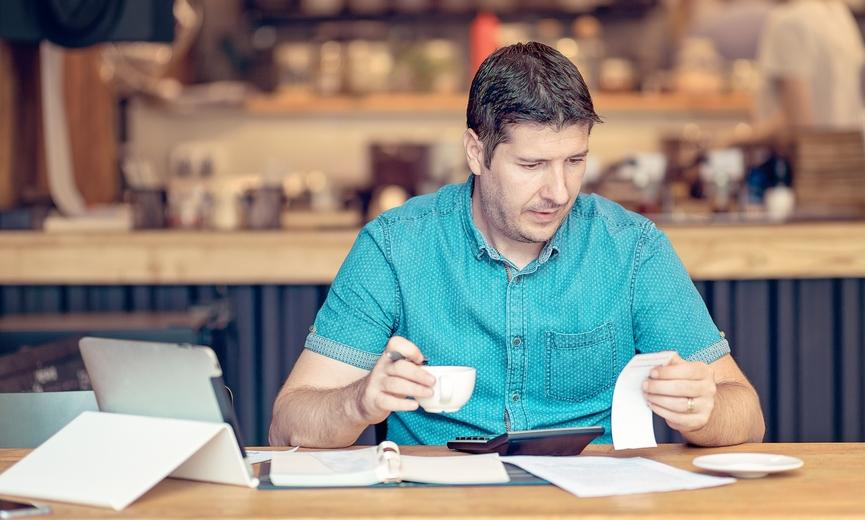 business owner reviewing cash flow