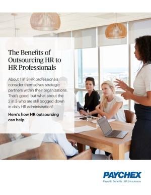 Outsourcing HR to Professionals