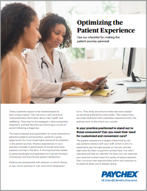 optimizing patient experience