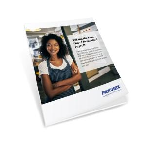 White page cover for restaurant payroll