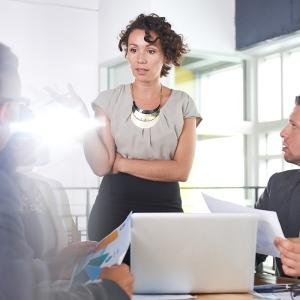 Female leaders can help boost company performance.