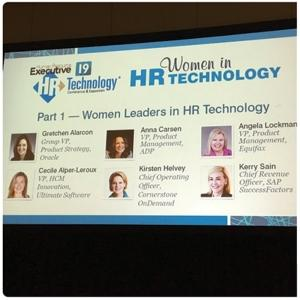 Women in leadership jobs in HR technology.