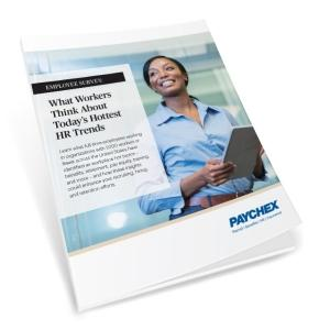 Cover of white paper with woman working on tablet.