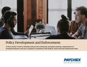 Policy development and enforcement whitepaper