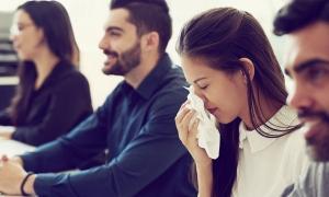 An employee sick at work