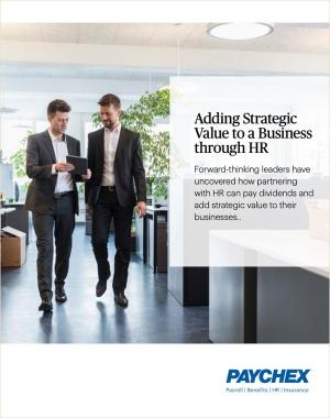 adding strategic value to a business through HR