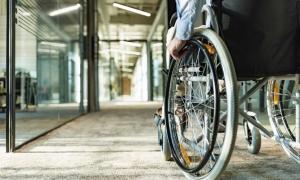employee using a wheelchair
